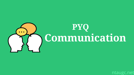 pyq of communication
