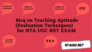 Teaching aptitude (Evaluation system) Previous Year Questions with answer