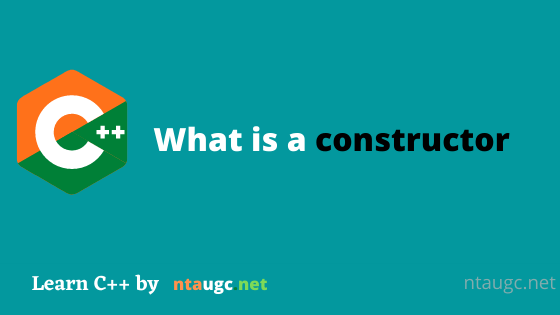 What is a constructor
